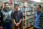 Wizyta gimnazjalistów w Krośnieńskiej Bibliotece Publicznej